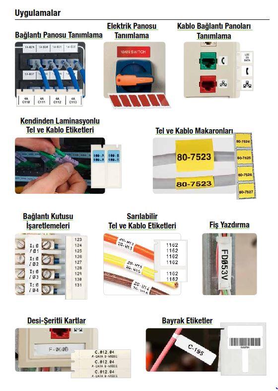 Endüstriyel Yazıcı, Tehlike, Uyarı ve bilgilendirme etiketleri.